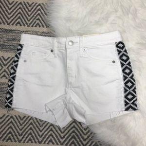 Universal Thread white high rise shortie shorts